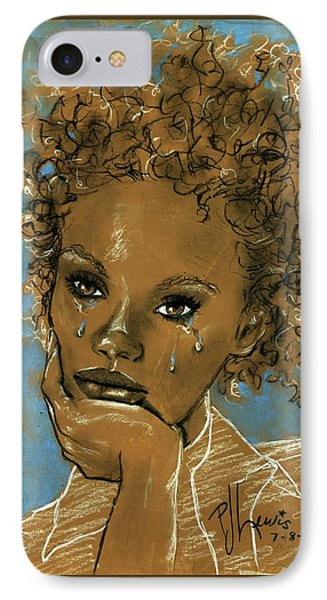 IPhone Case featuring the drawing Diamond's Daughter by P J Lewis