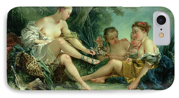 Diana After The Hunt Phone Case by Francois Boucher