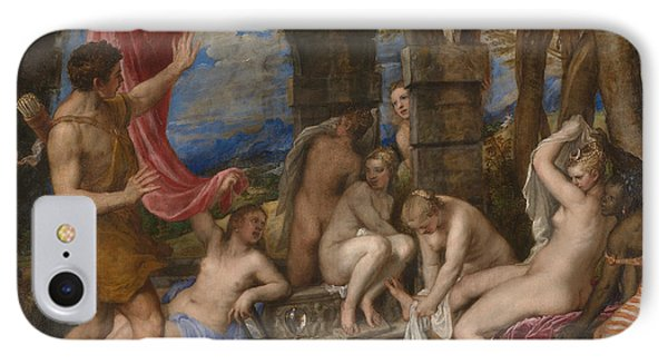 Diana And Actaeon IPhone Case by Titian