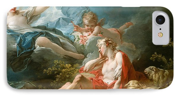 Diana And Endymion IPhone Case by Jean-Honore Fragonard
