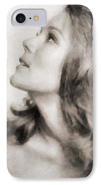 Diana Rigg, Actress IPhone Case by John Springfield