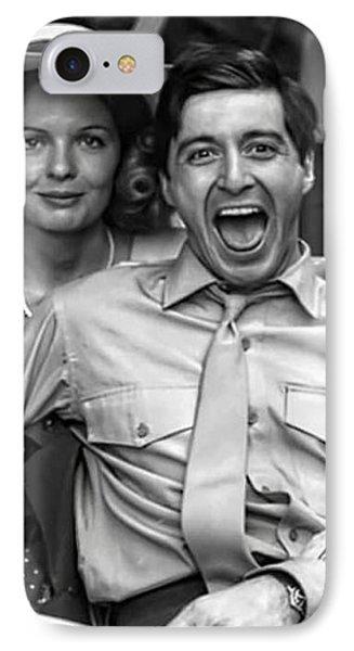Diane Keaton Al Pacino The Godfather Set 1972 IPhone Case by David Lee Guss