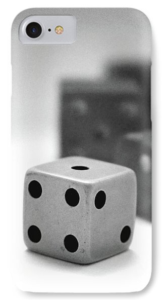 Dice 1- Black And White Photo By Linda Woods IPhone Case
