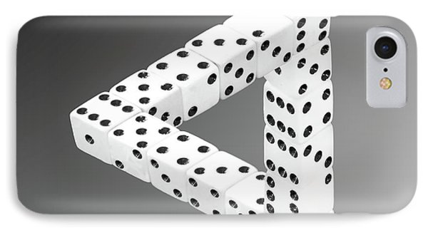Dice Illusion IPhone Case by Shane Bechler