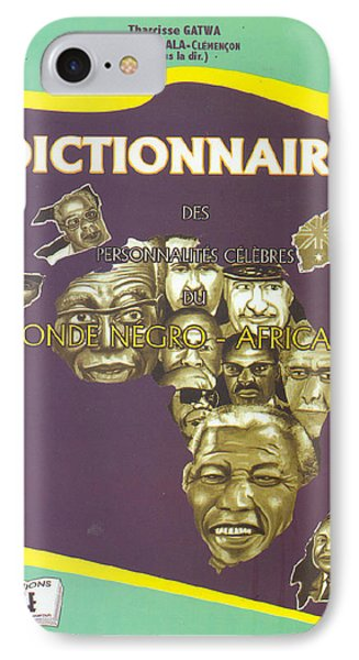 IPhone Case featuring the painting Dictionary Of Negroafrican Celebrities 1 by Emmanuel Baliyanga
