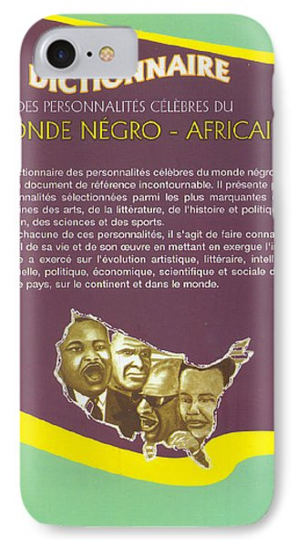 IPhone Case featuring the painting Dictionary Of Negroafrican Celebrities 2 by Emmanuel Baliyanga