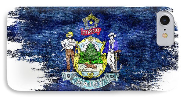 Didtressed Maine Flag IPhone Case