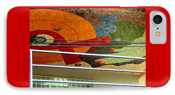 Diego Rivera Mural 10 IPhone Case by Randall Weidner