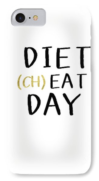 Diet Cheat Day- Art By Linda Woods IPhone Case by Linda Woods