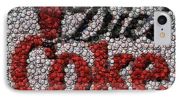 Diet Coke Bottle Cap Mosaic Phone Case by Paul Van Scott