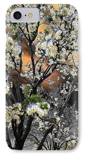Digital Abstract Of Spring Blossoms IPhone Case