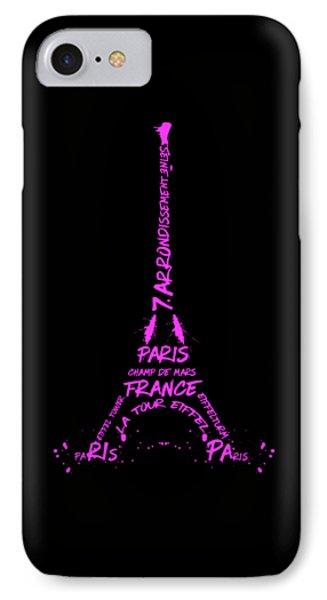 Digital-art Eiffel Tower Pink IPhone Case