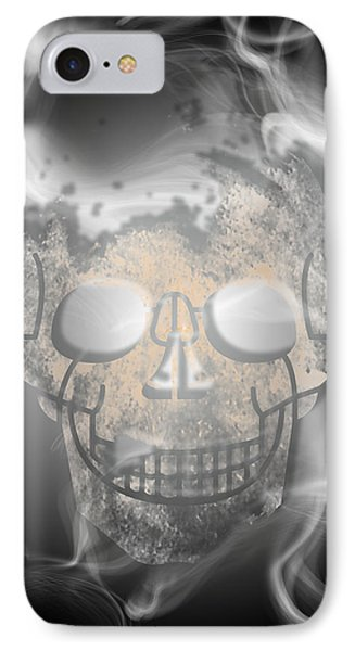 Digital-art Smoke And Skull IPhone Case