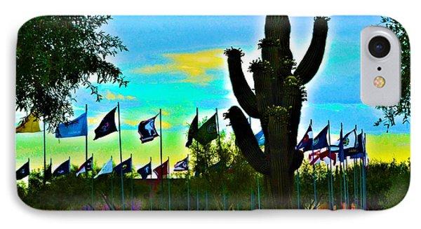 Digital Art Vets Cemetery IPhone Case by Richard Jenkins
