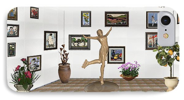 digital exhibition _ A sculpture of a dancing girl 11 IPhone Case by Pemaro