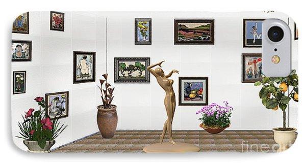 digital exhibition _Girl statue 24 IPhone Case