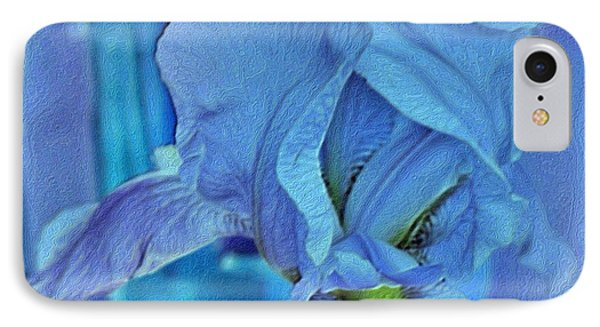 IPhone Case featuring the mixed media Digital Iris by Marsha Heiken
