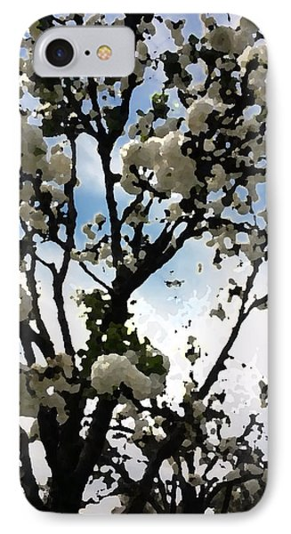 Digital Painting Of Spring Blossoms IPhone Case