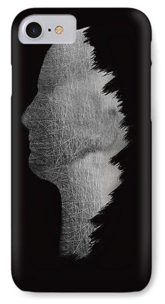 Digital Sculpture In Black IPhone Case by Art Spectrum