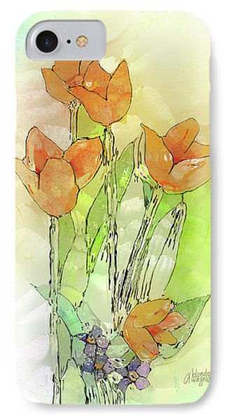 Digital Tulips Phone Case by Arline Wagner