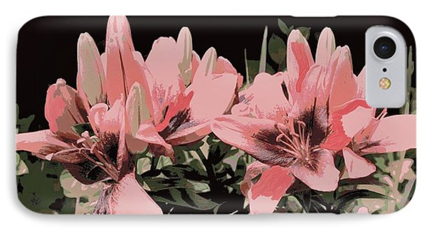 Digitalized Lilies IPhone Case