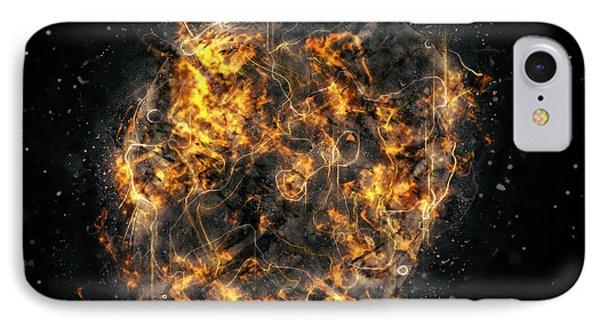 Digitally Created Exploding Supernova Star  IPhone Case by Ilan Rosen