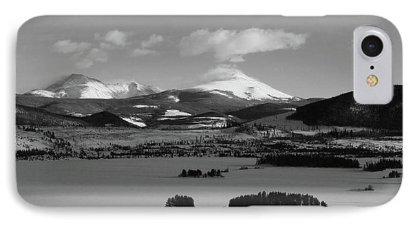 IPhone Case featuring the photograph Dillon In Winter Bw by Marie Leslie
