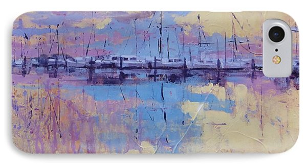 IPhone Case featuring the painting Dimensions  by Laura Lee Zanghetti
