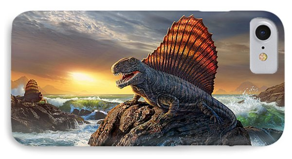 Dinosaur iPhone 7 Case - Dimetrodon by Jerry LoFaro