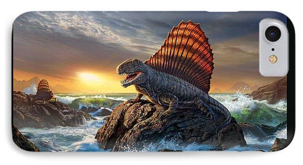Dimetrodon IPhone Case by Jerry LoFaro
