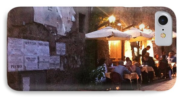Dining In Tuscany IPhone Case by Carol Sweetwood