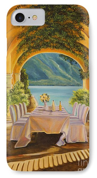 Dining On Lake Como Phone Case by Charlotte Blanchard