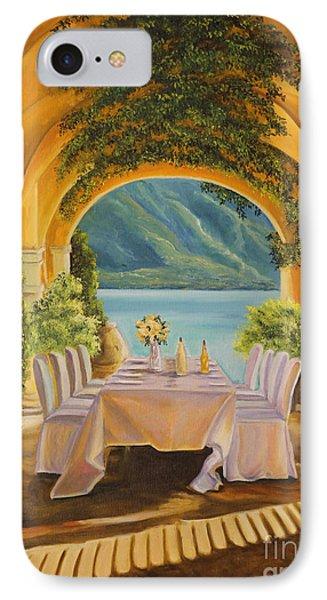 Dining On Lake Como IPhone Case