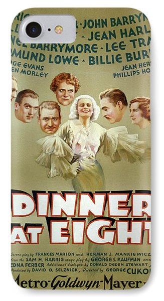 Dinner At Eight 1933 IPhone Case