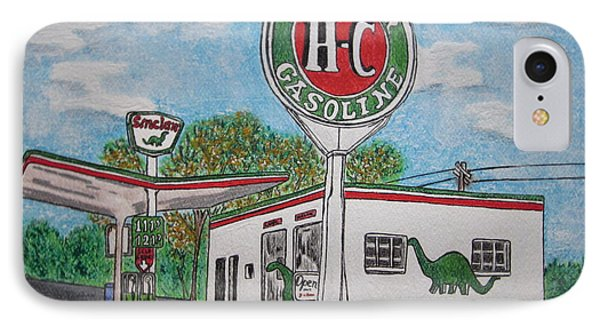 Dino Sinclair Gas Station IPhone Case