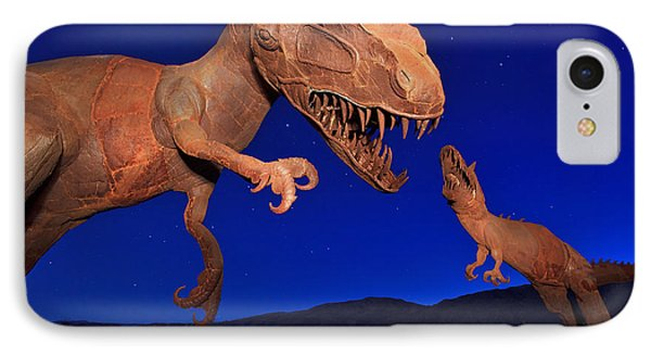 Dinosaur Battle In Jurassic Park IPhone Case by Sam Antonio Photography