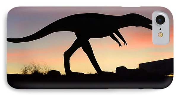 Dinosaur Loose On Route 66 Phone Case by Mike McGlothlen