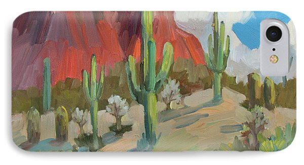 IPhone Case featuring the painting Dinosaur Mountain by Diane McClary