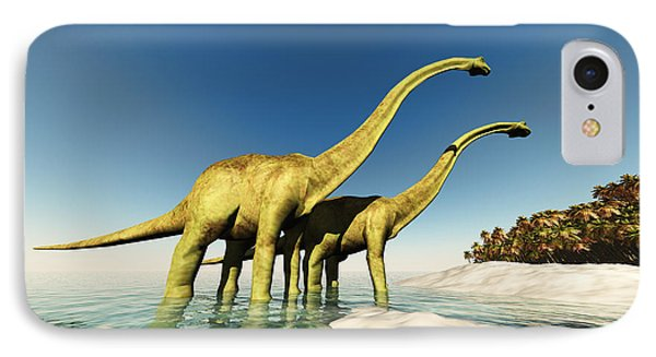 Dinosaur World Phone Case by Corey Ford