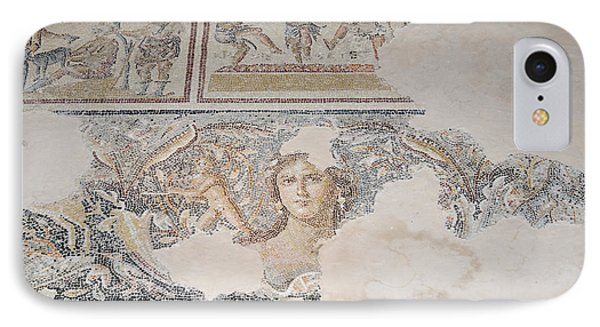 Dionysus Mosaic Mona Lisa Of The Galilee Phone Case by Ilan Rosen