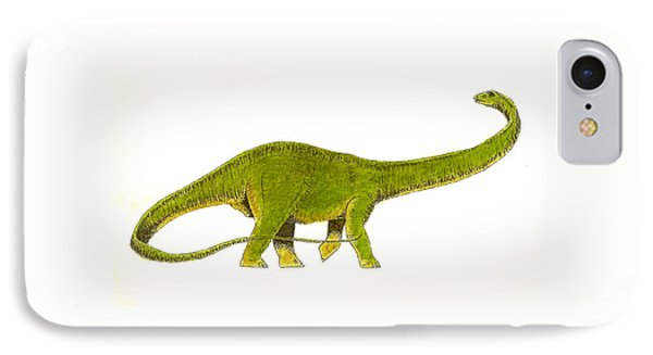 Dinosaur iPhone 7 Case - Diplodocus by Michael Vigliotti