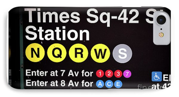 IPhone Case featuring the photograph Directions In Times Square by John Rizzuto