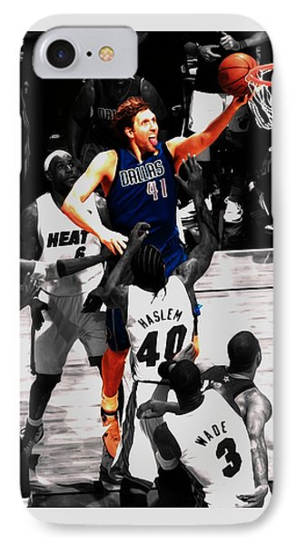 Dirk Nowitzki Soft Touch IPhone Case by Brian Reaves