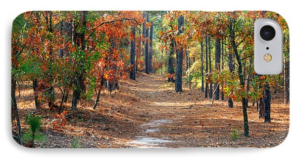 Autumn Scene Dirt Road IPhone Case