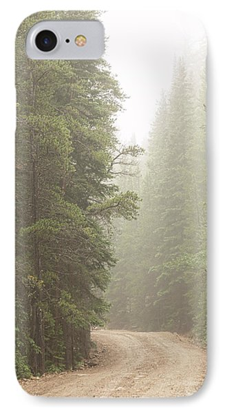 IPhone Case featuring the photograph Dirt Road Challenge Into The Mist by James BO Insogna