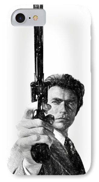 Dirty Harry Charcoal IPhone Case by Dan Sproul