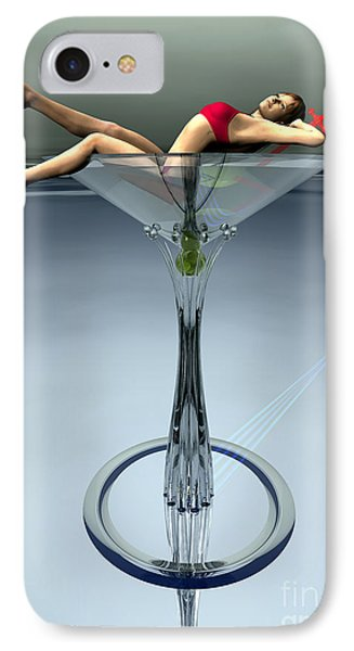 Dirty Martini IPhone Case by Sandra Bauser Digital Art