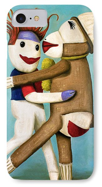 Dirty Socks Dancing The Tango Phone Case by Leah Saulnier The Painting Maniac