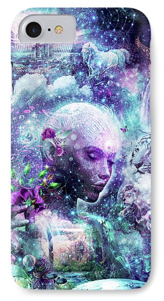Discovering The Cosmic Consciousness IPhone Case by Cameron Gray