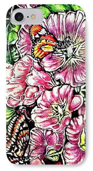 IPhone Case featuring the painting Discovering The Star Of Bethlehem In A Flower by Kimberlee Baxter